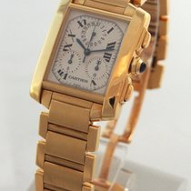 Cartier --- Tank Francaise Chronograph 18k Yellow Gold...