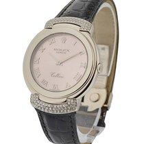 Rolex Used Cellisima Ladies Quartz in White Gold Diamond Lugs