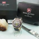 Swiss Military Xxl 48,5 Mm Hanowa Chronograph Stahlband Herrenuhr