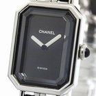 Chanel Premiere Size L Steel Leather Quartz Ladies Watch H0451...