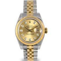 Rolex Datejust Ladies Steel & Gold, Champagne Diamond...
