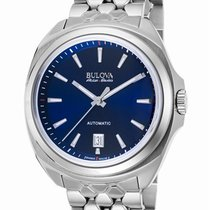 Bulova Accu Swiss Telc Automatic Steel Mens Watch Calendar...