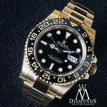 Rolex Gmt Master Ii Black Index Dial Oyster 116718 18kt Yellow...