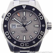 TAG Heuer Aquaracer Caliber 5 Stainless Steel Silver Dial...