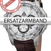 Rothenschild Ersatzband Leder RS-1109 grau-braun mit silberner...
