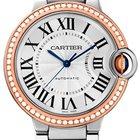 Cartier Ballon Bleu 36mm Steel 18K Rose Gold Diamond Bezel
