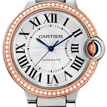 Cartier Ballon Bleu 36mm Steel 18K Rose Gold Diamond Bezel