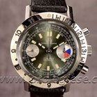 Ollech & Wajs Vintage Waterproof Steel 38mm Chronograph...