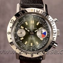 Ollech & Wajs Vintage Waterproof Steel 38mm Chronograph...