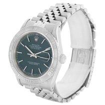 Rolex Turnograph Thunderbird Steel 18k White Gold Watch 16264