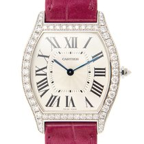Cartier Tortue 18k White Gold Silver Manual Wind WA501009