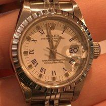 Rolex Ladies Ss Date 69240 Quickset Circa 1989 White Roman...