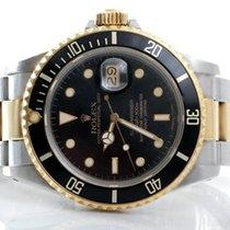 Rolex Mens 18K/SS Submariner - Black Dial / Insert - 16803 Model