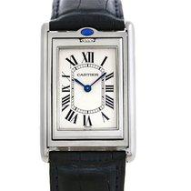 Cartier Tank Basculante Steel Large Mechanical Watch W1011358