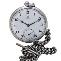 Omega SIDE SECOND POCKET WATCH WITH CHAIN MANUAL WINDING
