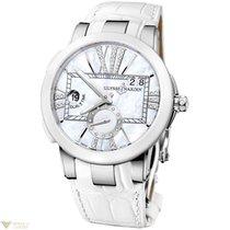 Ulysse Nardin Executive Dual Time Ladies Ceramic Watch