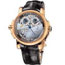 Ulysse Nardin Sonata Silicium Perpetual Calendar Gold Leather...
