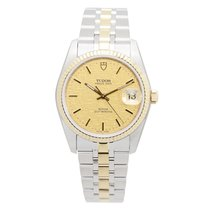 Tudor New  Price Date-day 18k Gold Steel Gold Automatic...