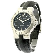 Bulgari LCV35S Diagono 35mm Automatic - Steel on Strap with...