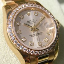 Rolex Datejust President 179138 18k Yg Silver Diamond Dial...