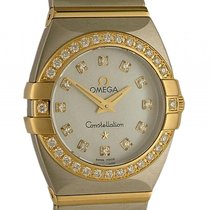 Omega Constellation Stahl/18kt Gelbgold Quarz Diamond Perlmutt...