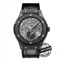 Hublot Classic Fusion Aerofusion Moonphase Black Magic Unused