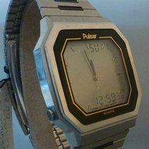 Pulsar vintage quartz lcd world timer ref Y951-5019 a3 serial...