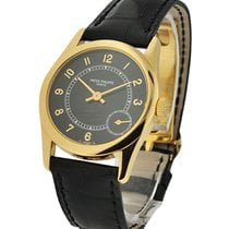 Patek Philippe Calatrava Yellow Gold on Strap with Deployant...
