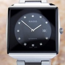 Rado Black Stainless Steel Automatic Mid Sized Watch 70's...
