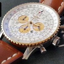 Breitling Navitimer Cosmonaute 18k Gold Steel Flyback 24h