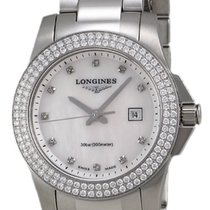 Longines Conquest Stainless Steel  & Diamond Womens Watch...