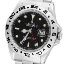 Rolex Explorer II 16550 Fat Font Stainless Black Date GMT Date
