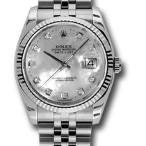 Rolex 116234 Datejust Stainless Steel&18K White Gold...