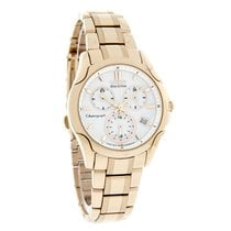 Citizen Eco-Drive Ladies White Dial Chrono Rose Gold Watch...