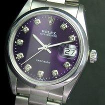 Rolex OysterDate Precision Diamond Dial Steel Watch Ref# 6694