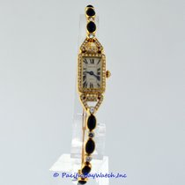 Cartier Yellow Gold Diamond and Onyx Ladies Pre-owned
