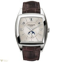 Patek Philippe Annual Calendar 18k White Gold Leather Men's Watch