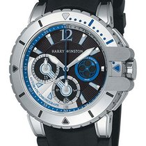 Harry Winston [NEW] Ocean Diver automatic 18K white gold and...