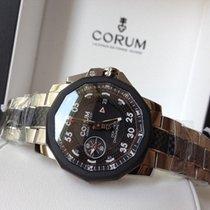 Corum 44mm admirals cup seafender carbon/steel bracelet , New