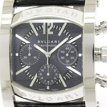 Bulgari Polished  Assioma Steel Leather Automatic Mens Watch...