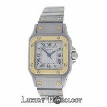 Cartier Mint Women's Santos Galbee Steel 18K Gold Steel 24mm