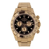 Rolex DAYTONA 18K Everose Gold Watch Black Dial Box/Papers