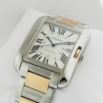 Cartier Tank Anglaise Large 18kt Pink Gold Stainless Steel...