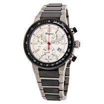 Salvatore Ferragamo F-80 Chrono Mens Titanium Watch F54MCQ7890...