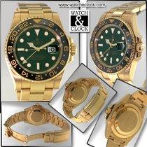 Rolex Gmt oro quadrante Verde