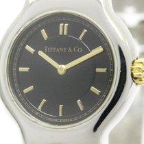 Tiffany Tesoro 18k Gold Steel Quartz Ladies Watch L0112...