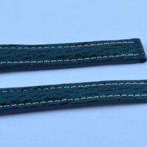 Breitling Hai Leder Armband 19mm  19-16 Für Faltschliesse Grün...