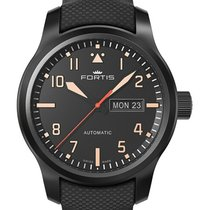 Fortis Aeromaster Stealth Swiss Auto Day/date Watch 42mm Pvd...
