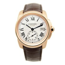 カルティエ (Cartier) Calibre De Cartier 18k Rose Gold Silvery White...