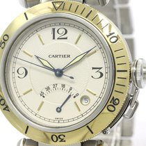 Cartier Polished Cartier Pasha 38 Power Reserve 18k Gold Steel...